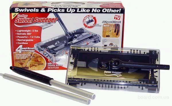 Механическая щетка для уборки  пола Swivel Sweeper (Свивел Свипер) - электровеник