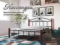 Металлическая кровать Кассандра на деревянных ножках ТМ «Металл-Дизайн»