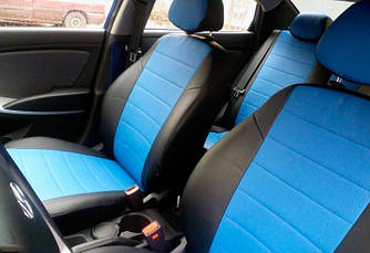 Чехлы на сиденья Хонда Фрв (Honda FR-V) 2004-2009 г. (эко-кожа, модельные)