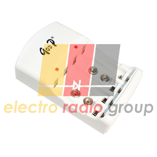 Зарядное устройство универсальное C801 2AA/2AAA/9V, 2.4VDC 400mA, 9V 20mA