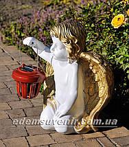 Фигура Ангел с фонарем малый, фото 2