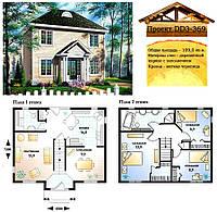 Проект каркасно-щитового дома с заполнением 109 м2. Проект дома бесплатно при заказе строительства