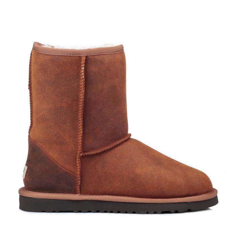 Оригинальные угги кожаные мужские UGG Classic Short Leather Chestnut 2 - светло-коричневые, Австралия