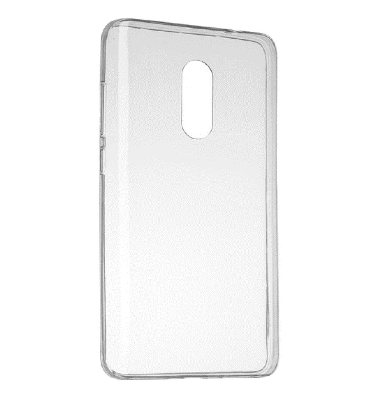 Силиконовый чехол (силиконовая накладка) DIGI TPU на Xiaomi Redmi Note 4 (MTK) CleanGrid Transparent