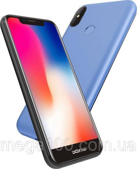 Смартфон Doogee X70 голубой (экран 5,5 дюймов, памяти 2Gb RAM/16Gb*БАТАРЕЯ 4000 мАч