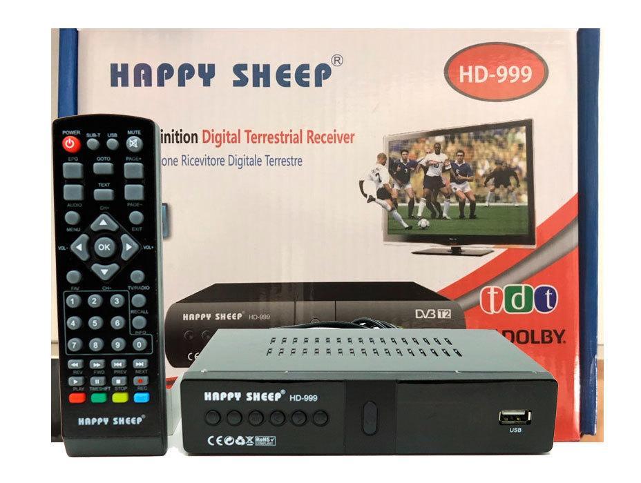 Тюнер T2 Happy Sheep HD-999, приставка Т2 , ТВ ресивер, ТВ тюнер, Телеприемник, цифровое телевидение