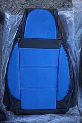 Чехлы на сиденья Шкода Румстер (Skoda Roomster) (универсальные, кожзам/автоткань, пилот)