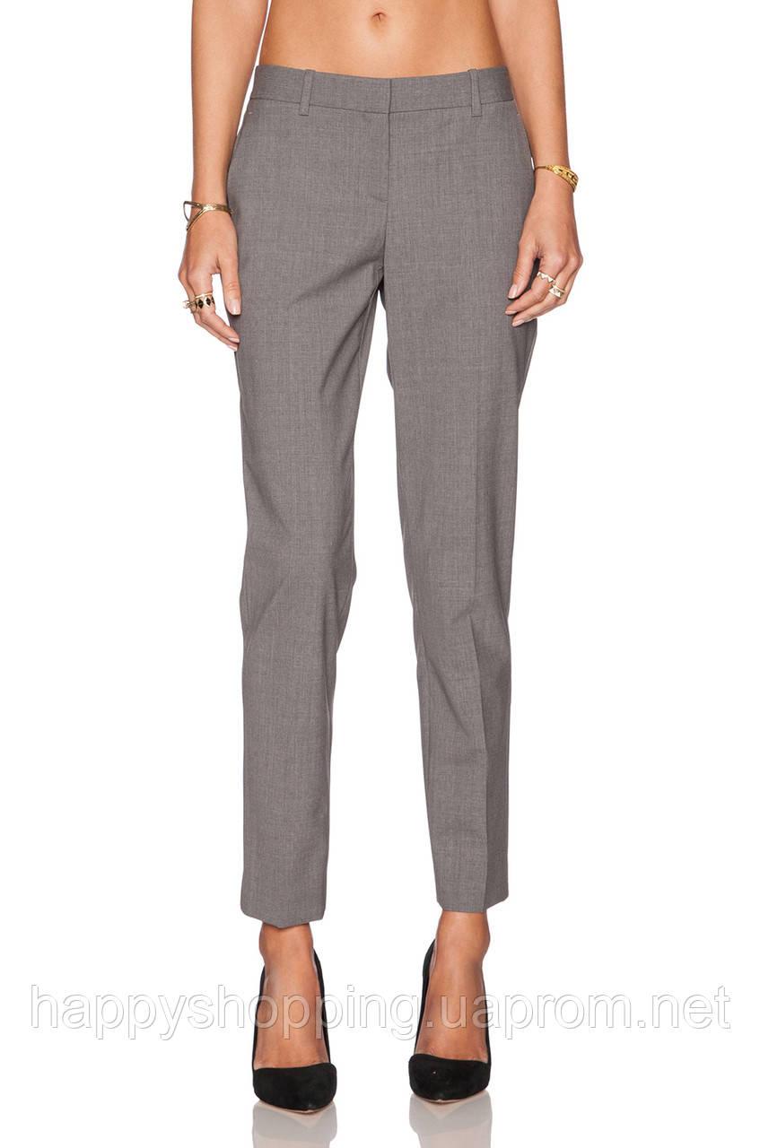 Женские серые шерстяные брюки Theory