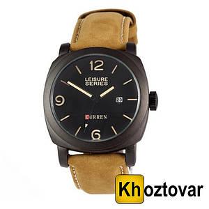 Классические мужские часы Curren 8158 All Black   Кварцевые