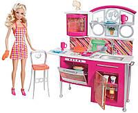 """Игровой набор Barbie """"Накрываем на стол"""" , кукла + кухня, фото 1"""