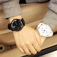 Женские наручные парные часы Miller белые и черные