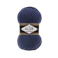 Пряжа для вязания Alize Lanagold 215 черника (Ализе Лана голд)