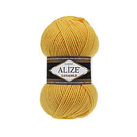 Пряжа для вязания Alize Lanagold 216 желтый (Ализе Лана голд)
