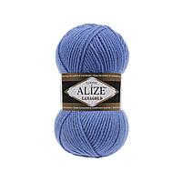 Пряжа для вязания Alize Lanagold 237 сапфир (Ализе Лана голд)