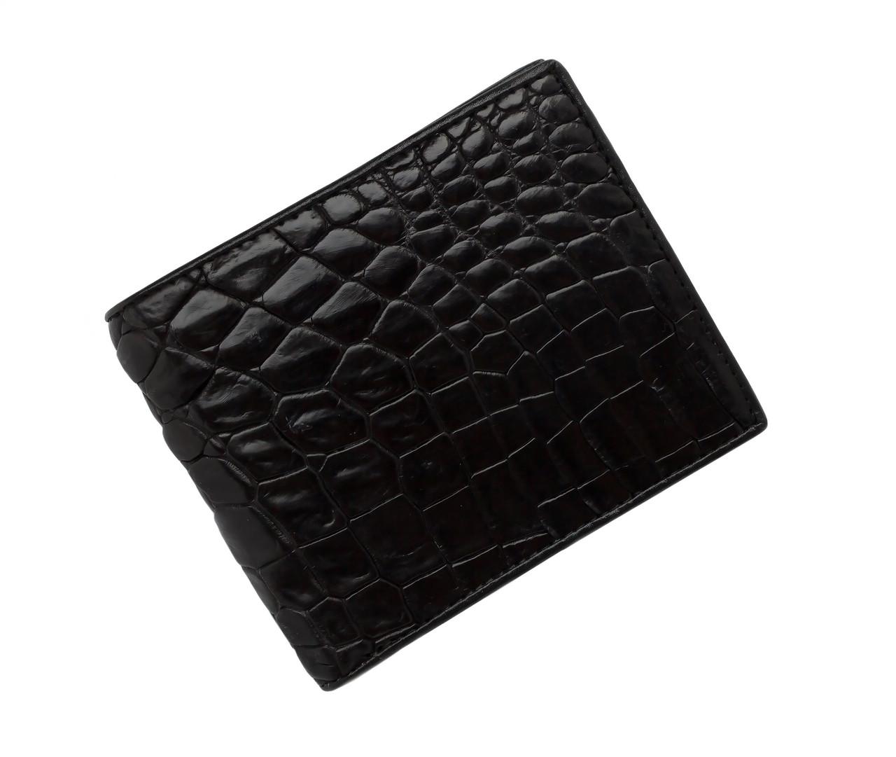 Гаманець зі шкіри крокодила Ekzotic Leather Чорний (cw34_3)
