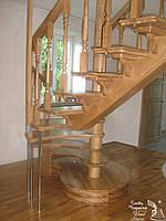 Лестница деревянная дубовая на заказ. Проэктирование, изготовление, монтаж