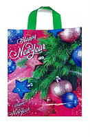 Новогодний пакет петля 30 x 35 см (уп-25 шт)