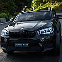 Двомісний дитячий електромобіль Джип BMW X6, Шкіра, EVA гума, Амортизатори, дитячий електромобіль, фото 2