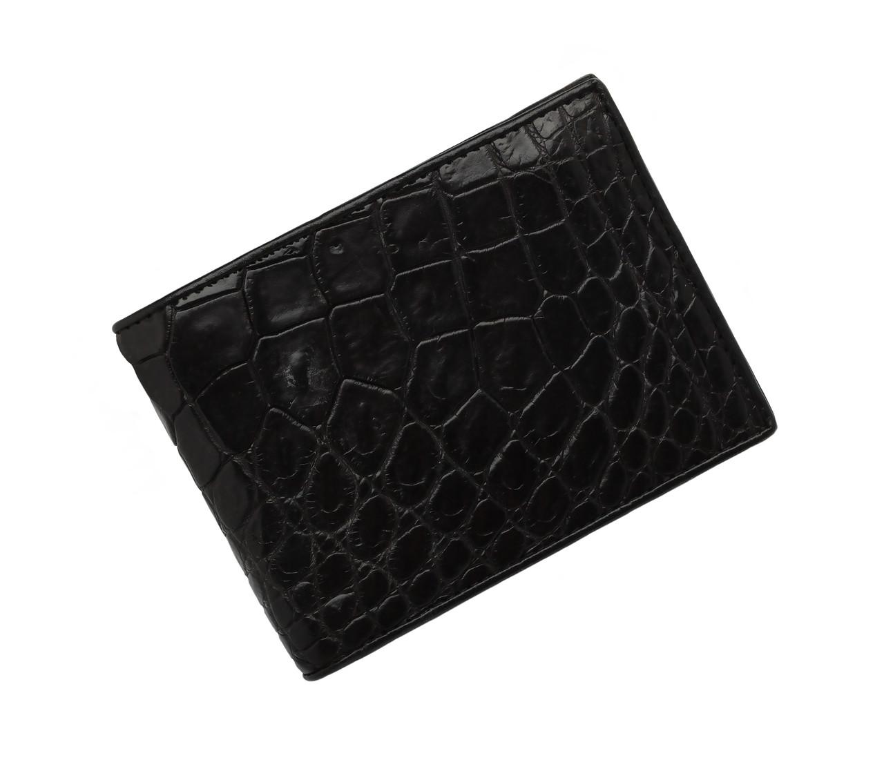 Гаманець зі шкіри крокодила Ekzotic Leather Чорний (cw 35_3)
