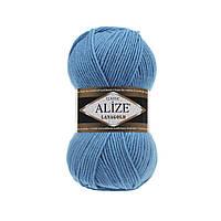 Пряжа для вязания Alize Lanagold 245 морская волна (Ализе Лана голд)