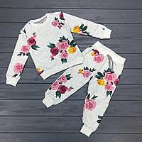 Детский костюм теплый(начес) для девочек оптом р.2-8 лет