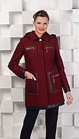 Пальто ровное с капюшоном, фото 1