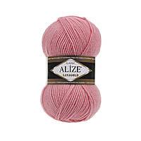 Пряжа для вязания Alize Lanagold 265 персик (Ализе Лана голд)