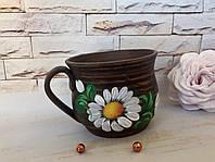 Чашка из красной глины рисованная , фото 1