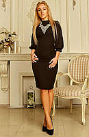 """Женское платье с вышивкой """"Хелен 01"""" (черное), фото 1"""