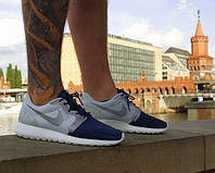 Мужские летние кроссовки Nike Roshe Run 40 Светло-серый