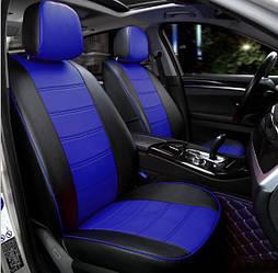 Чехлы на сиденья Дача Логан MCV (Dacia Logan MCV) (с 2006 г, эко-кожа, модельные, 5 мест) Черно-белый