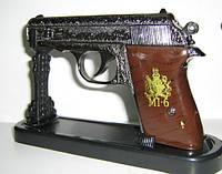 Пистолет-зажигалка на стойке - подарок мужчине