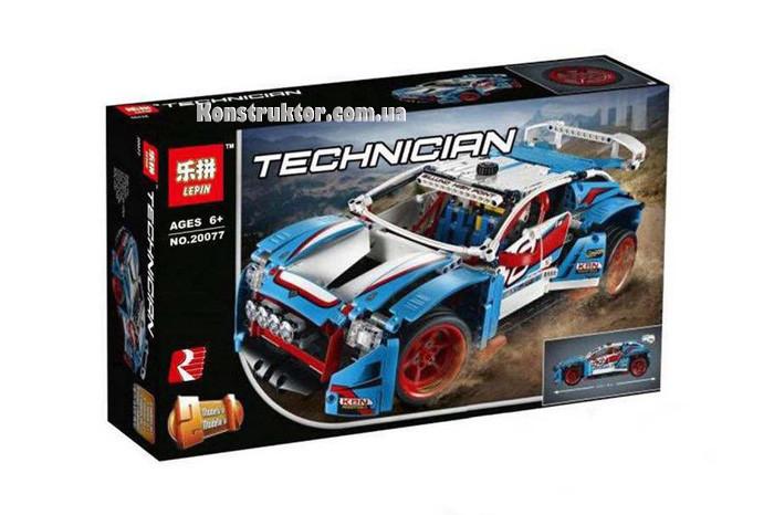"""Конструктор Lepin 20077 """"Гоночный автомобиль"""" 1085 деталей. Аналог Lego Technic 42077"""