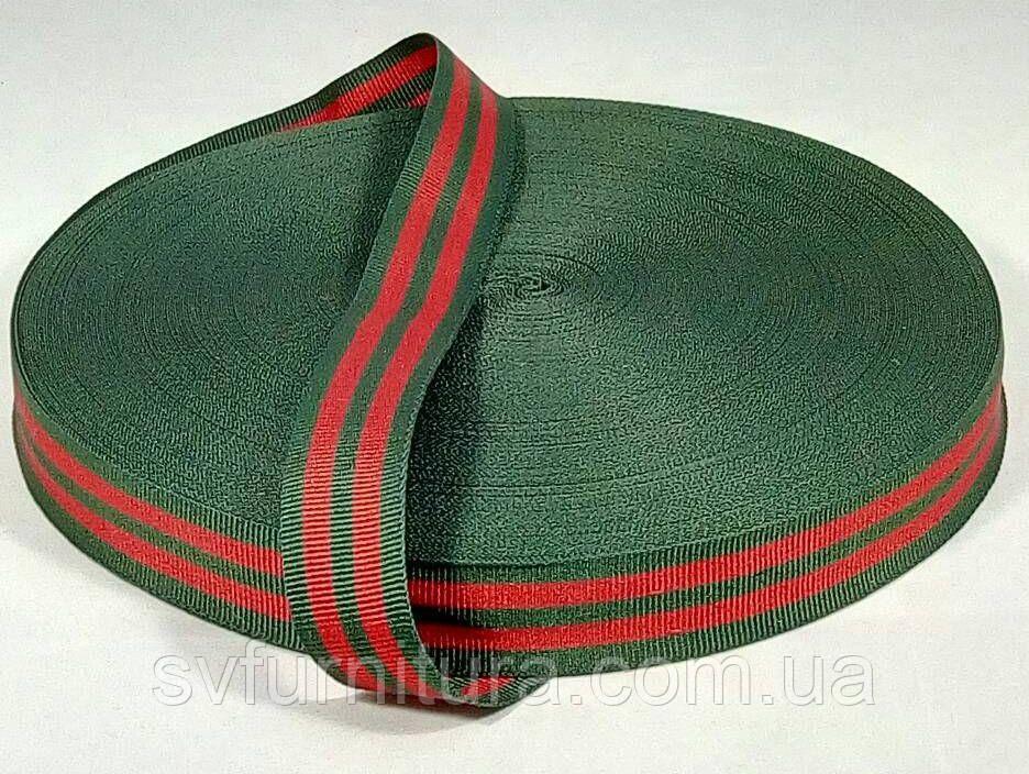 Стропа №5 зеленый красный Ширина: 2 см