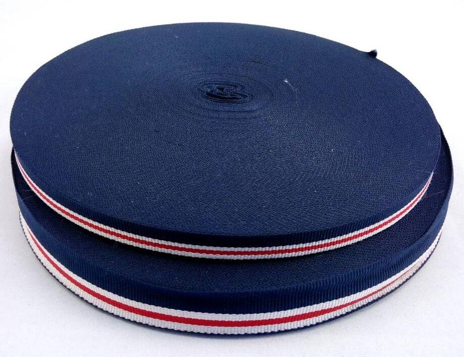 Стропа №8 синий белый Ширина: 2 см
