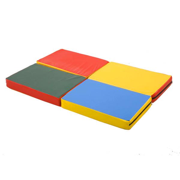 Гимнастический складной мат «Пятнашка 120х80x8 см»
