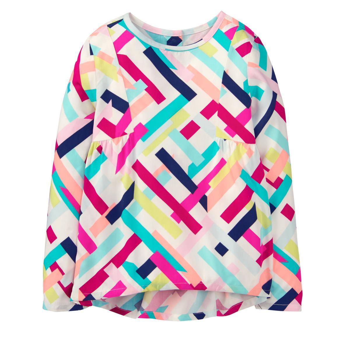 Шелковая блузка Crazy8 лонгслив реглан кофточка на 4,5,6,7,8 лет  4