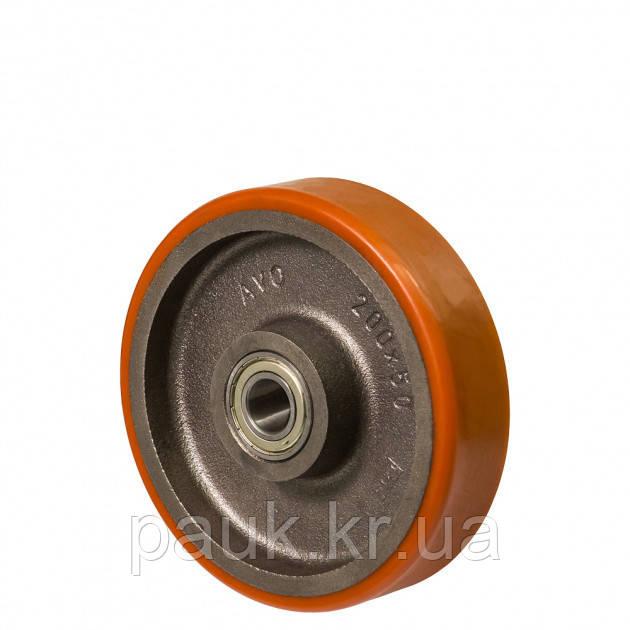 Колесо 55-301х100-B(серія 55) Ø 300мм, без кронштейна кульковий підшипник