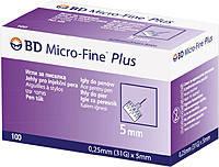 Иглы для инсулиновых шприц-ручек BD Micro Fine, 5 мм