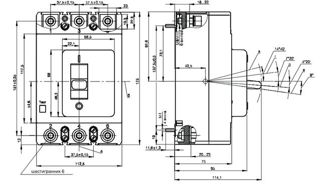 Автоматические выключатели ВА04-36
