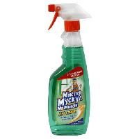 Средство для мытья стекол с распылителем зеленый 500 мл Мистер Мускул