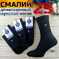 """Мужские носки демисезонные  """"Смалий""""  эконом чёрный 29р. НМД-05300"""