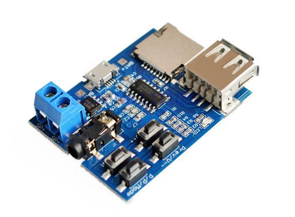 MP3 модуль проигрыватель USB MicroSD TF 3.7-5.5V
