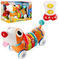 Собака 1142-NL р/у, 26см,2режим,ездит,двигает головой,музыка,звук,свет
