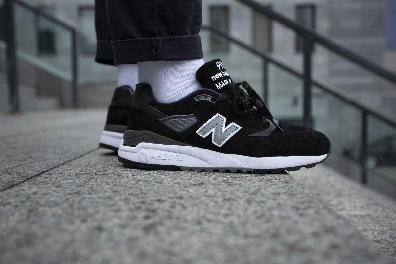 Мужские кроссовки New Balance 998  Black ( Реплика ) 42 размер