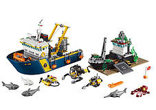 Конструктор Lepin 02012 Город Корабль для глубоководных экспедиций (аналог Lego City 60095), фото 2