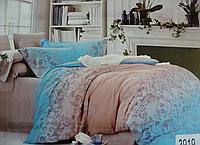 Сатиновое постельное белье евро ELWAY 3919
