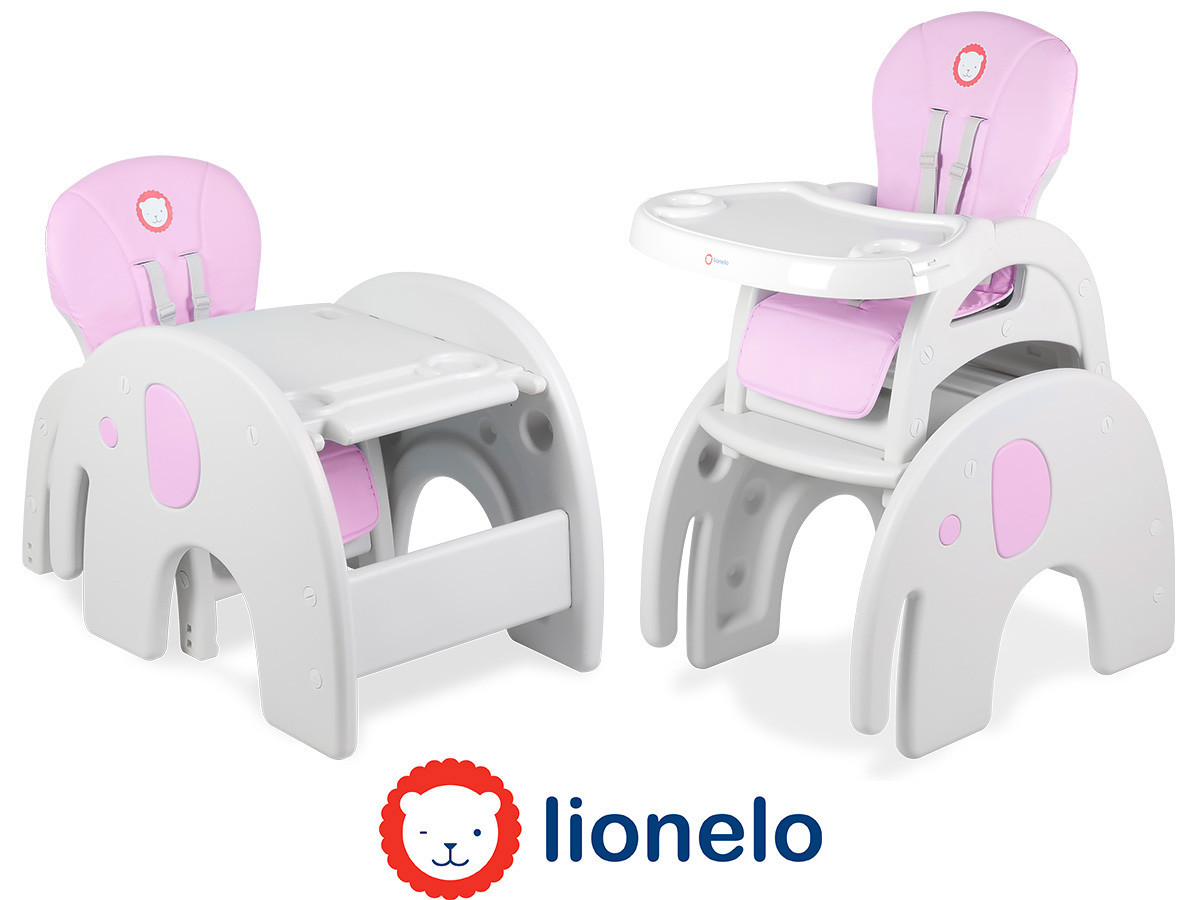 Крісло-трансформер Lionelo Eli 5в1 Pink
