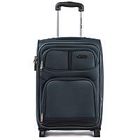 Малый дорожный чемодан на двух прорезиненных колёсах фирмы WINGS 206-2 S  GREEN cbdd543a98c