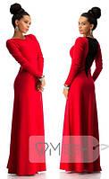 """Женское нарядное  Платье """" спина гипюр"""" краснаядорогой набивной гипюр"""